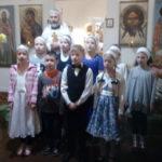 Поздравление от детей учебно-воспитательной группы с Праздником Рождества Христова после литургии 13 января.