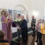 Прихожане монастыря поздравили с днем рождения и днем ангела